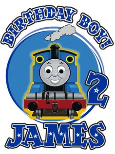 Thomas the Tank Train Birthday Party t Shirt Iron On Transfer Personalized Thomas the Tank  Custom T Shirt Decal. $3.50, via Etsy.