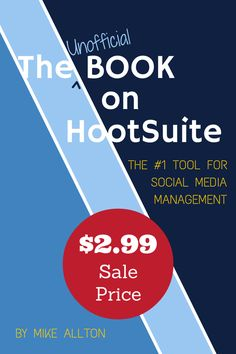 The Unofficial Book On HootSuite - ON SALE!  That's right! I'm putting my book on sale throughout the weekend... just $2.99 for the only complete guide on the popular social media management tool.  Amazon: http://thesmh.co/HootBook   Buy one for you, or for a friend!   #Hootsuite  #SocialMedia  #BlackFriday  #CyberMonday