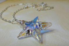 An AB Swarovski Crystal Star  is Born Necklace. $22.50, via Etsy.