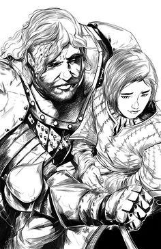 Arya and Sandor by toonfed