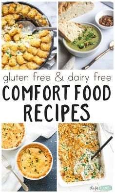Cozy up with these gluten free and dairy free comfort food recipes perfect for dinner! We've included nut free, paleo, low carb, and vegan recipes here so there's something for everyone. | thefitcookie.com #glutenfree #dairyfree #comfortfood #dinnerrecipes #maindish