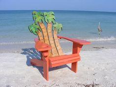 Custom Made Adirondack Chair - Palms Design