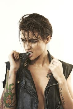 """I am very gender fluid and feel more like I wake up every day sort of gender neutral."". -Ruby Rose"