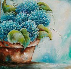 Série Flores do meu jardim Óleo sobre tela de Cris Teles