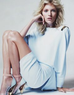 Anja Rubik photographed by Jan Welters in Elle UK February 2013