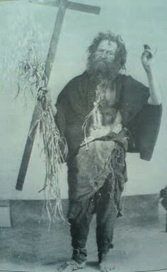 The Holy Fool for Christ Haralambis, follower of yhe old calendar in Greece.