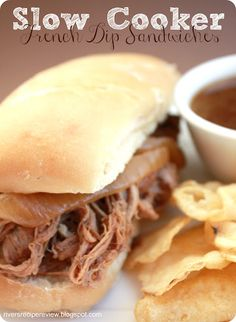 The Recipe Critic: Slow Cooker French Dip Sandwiches.  These are so easy and only 3 ingredients!  They are delicious!