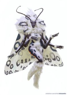 leanan sidhe:-- these moth like fairies offer inspiration to artists and muses in exchange for their love and devotion, however this frequently leads the artist to madness and often premature death. as such those who deal with leanan sidhe often lead brief but greatly inspired lives.
