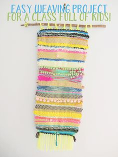 Need an idea for your primary school class collaborative art piece and don't want a mess? Try this easy, quirky and beautiful weaving project. Collaborative Art Projects For Kids, Clay Projects For Kids, Class Art Projects, Weaving Projects, Kids Crafts, Classroom Projects, Creative Crafts, Primary School Art, Elementary Art