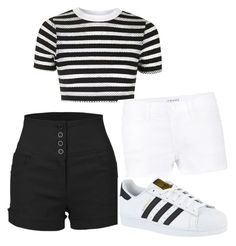 """""""Untitled #189"""" by princesssheryl1 on Polyvore featuring Topshop, LE3NO, Frame Denim and adidas"""