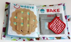 Yummy busy book DIY.... so cute! Makes me wish for a child young enough to make it for! :)
