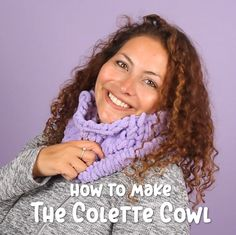 You don't need to know how to knit to make this simple cowl. Informations About How to Make a Cowl with Off the Hook Pin. Finger Knitting Blankets, Loom Knitting Blanket, Hand Knit Blanket, Knitted Blankets, Hand Knitting, Start Knitting, Knitting Patterns, Knitting Videos, Crochet Videos
