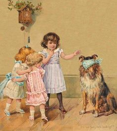 Children & Collie print.