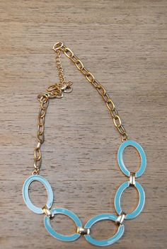 41Hawthorn Enamel Ovals & Chain Necklace. I like the versatility of this piece... So many possibilities...