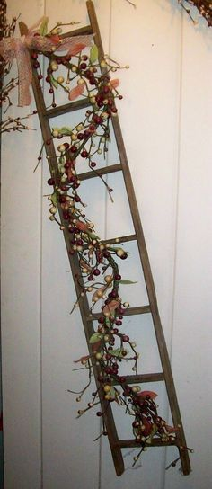 Image result for how to display primitive ladder in your home