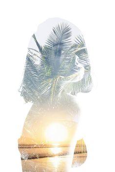 double exposure ∙ beach