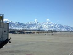 """See 7534 photos from 142826 visitors about delta, scenic views, and cafe rio. """"One of, if not the best """"major"""" city airports. Salt Lake City Airport, Cafe Rio, Slc, International Airport, Morning Quotes, Four Square, Places Ive Been, Mountains, Travel"""