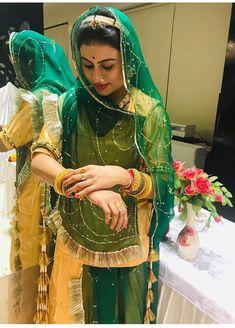 Shivani Rathore 💫 Indian Bridal Outfits, Indian Bridal Fashion, Indian Bridal Wear, Indian Ethnic Wear, Indian Dresses, Rajput Jewellery, Wedding Attire For Women, Rajasthani Dress, Kids Dress Wear