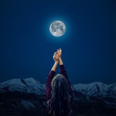 Talking to the moon by Jared Sandoval Mystic Moon, Moon Art, Sky, Art Prints, Gallery, Outdoor, Heaven, Art Impressions, Outdoors