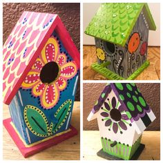 Birdhouse Designs, Bird Houses Painted, Good House, Bird Feeders, Birds, Birdhouses, Outdoor Decor, House Ideas, Crafts