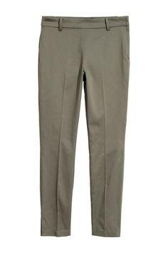 Spodnie cygaretki - Zieleń khaki - | H&M PL 4