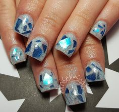 broken glass winter nails
