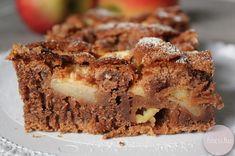 Kakaós-fahéjas almás szelet Never Give Up, Tiramisu, Banana Bread, Ale, Muffin, Sweets, Healthy Recipes, Breakfast, Food