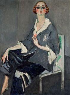 "Kees van Dongen - ""Portrait of Mrs Jamsy"" 1916 - Oil Painting Harlem Renaissance, Henri Matisse, Monte Carlo, Pinturas Art Deco, Art Fauvisme, Maurice De Vlaminck, Raoul Dufy, Great Works Of Art, Dutch Painters"