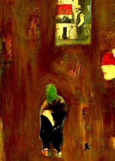 """5-Toulouse Lautrec x Cris Acqua.  Pintura Mixta Collage. 30x21 cm.   HOMENAJE :""""Mi amor por este genial pintor...dueño de los trazos más libres y geniales de la Belle epoque, me han influido totalmente en mi camino por el arte..."""" (Cris Acqua)  http://www.crisacqua.com"""