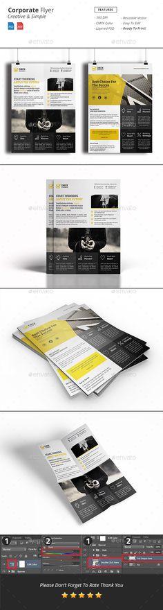 Corporate Flyer Template PSD #design Download: http://graphicriver.net/item/corporate-flyer/14458024?ref=ksioks