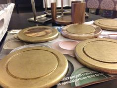 DIY: Gold Leaf Pen Coasters http://studiostyleblog.com/2014/01/17/diy-gold-leaf-pen-coasters/ … #DIY #goldleaf #gold