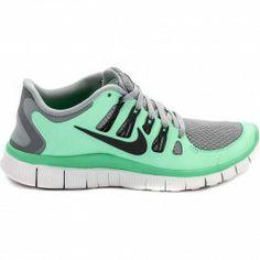 Nike Free 5.0+ Women's Running Shoe (Silver/Green/White/Grey)