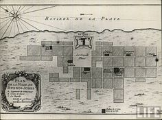 Old map Buenos Aires
