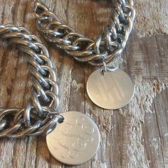 Swanky Saddle Co. Monogrammed Curb Appeal Bracelet