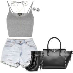 How To Wear Leather, Shorts and Studs Outfit Idea 2017 - Fashion Trends Ready To Wear For Plus Size, Curvy Women Over 20, 30, 40, 50