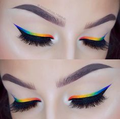 Rainbow eyeliner Perfect brows