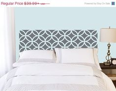 15% OFF - Overlapping Circles Headboard decal  - Vinyl wall sticker decal - circles pattern