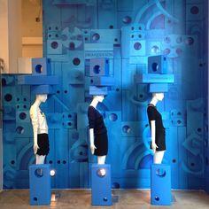 "JOHN JEFFREY,NYC, ""Into the Blue"", (J.W. ANDERSON), display by John Galang,pinned by Ton van der Veer"