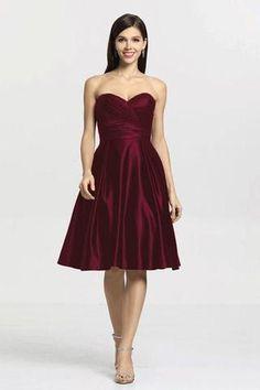 c4954d365c30 Hannah bridesmaid dress in mahogany satin. Satin Bridesmaid Dresses, Strapless  Dress Formal, Bridesmaids