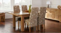 Bayeux Extending Table & 4 Wave Chairs Fabric #scssofas #dining Awesome Scs Dining Room Furniture Inspiration Design