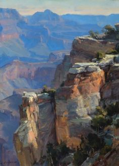"""""""Grand Canyon,"""" Clyde Aspevig, oil on canvas, 20 x 15"""", private collection."""