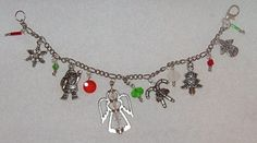 Christmas Antique SilverToned Charm Bracelet by Ricksiconics, $15.00
