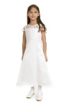 Emily Lace Bodice Communion Dress by Sarah Louise 9949