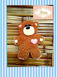 Teddy bear cookie valentines