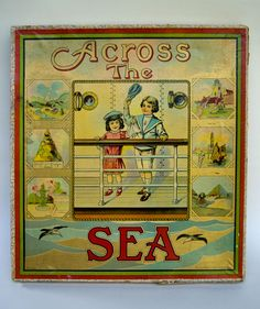 Image detail for -Across the Sea | Milton Bradley 1910 Antique American Game