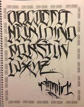 Graffiti Lettering Alphabet, Calligraphy Fonts Alphabet, Tattoo Fonts Alphabet, Chicano Lettering, Graffiti Font, Font Art, Script Lettering, Lettering Design, Penmanship