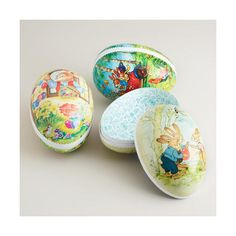 Cost Plus World Market Extra-Large German Nesting Easter Egg Containers, Set of 4