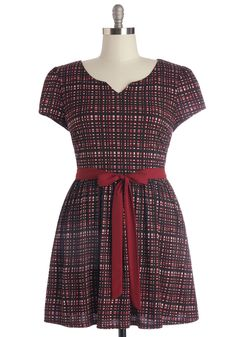 Quite the Travelista Dress. Versatile yet unique, this sash-tied dress is your ModCloth-exclusive travel companion thats soon to see many a-city. #red #modcloth