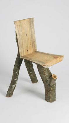 Wood chair that can easily be made by yourself