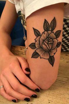 Tattoos 3d, Badass Tattoos, Body Art Tattoos, Tatoos, Elbow Tattoos, Black Tattoos, Flower Tattoo Designs, Flower Tattoos, Tatto Skull